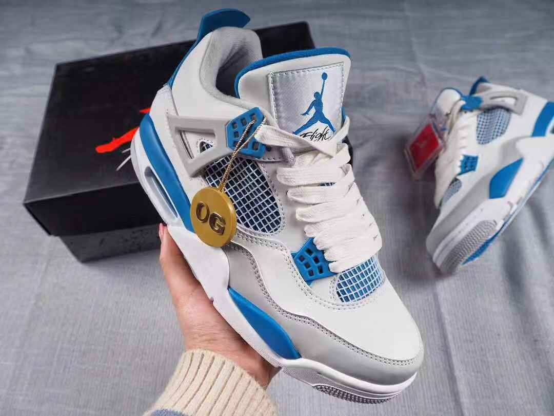 Air Jordan 4 Retro Military Blue 308497-105
