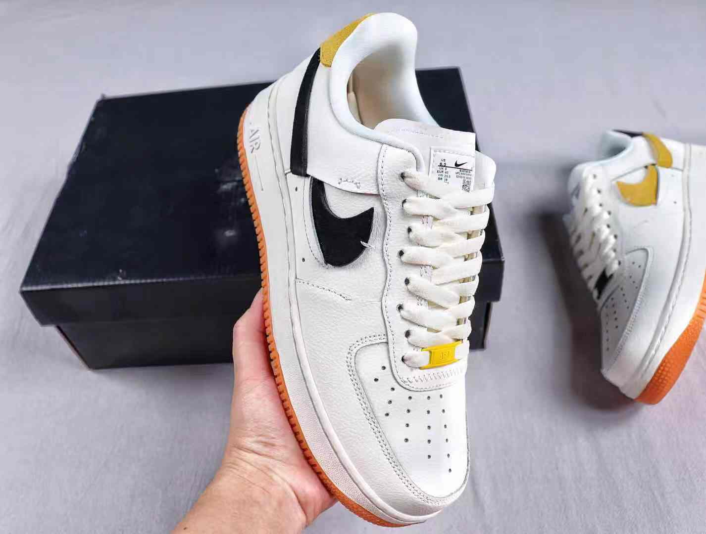 Nike Air Force 1 Vandalized Arrives in Sail Black and Yellow
