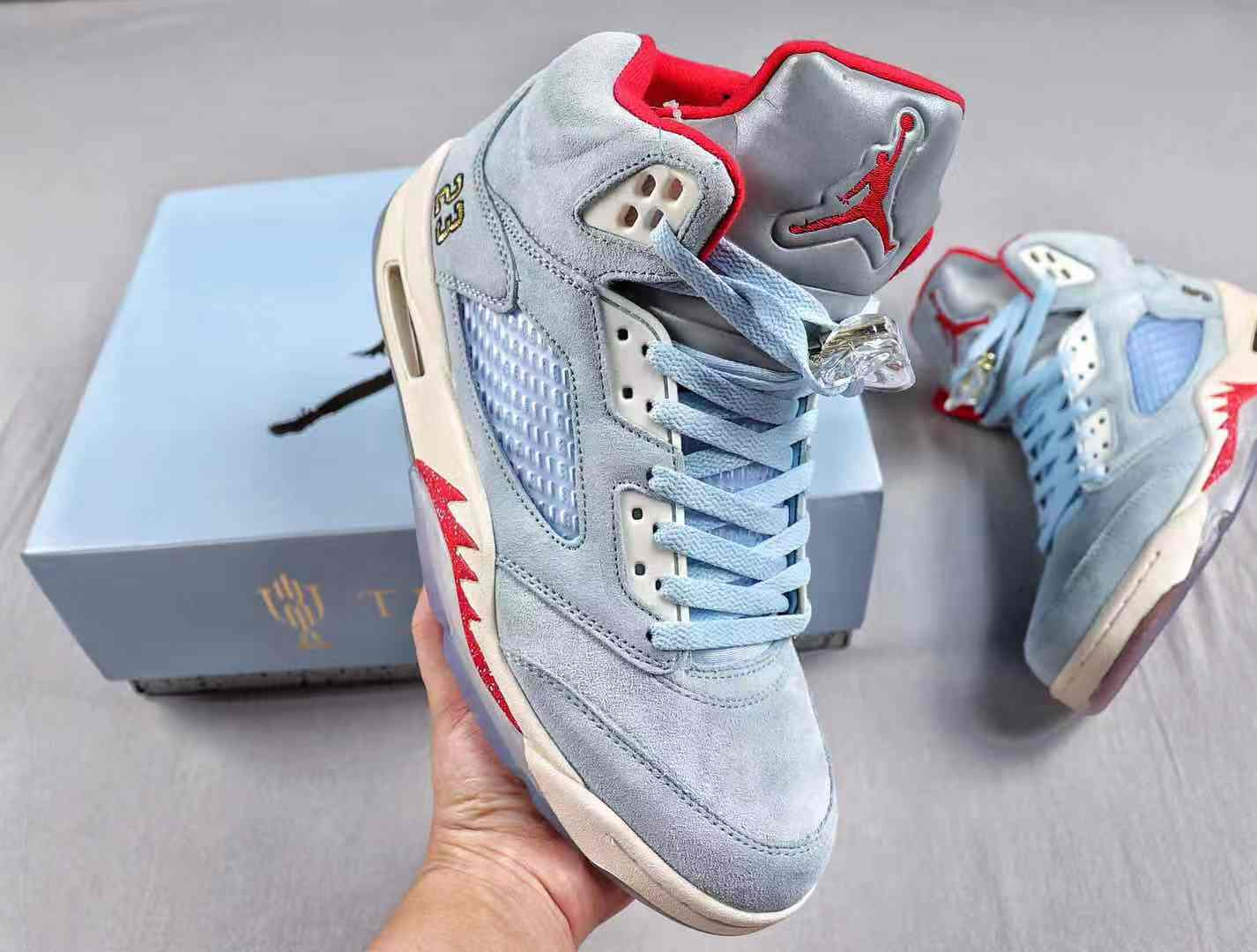 Trophy Room x Air Jordan 5 Retro Ice Blue CI1899-400