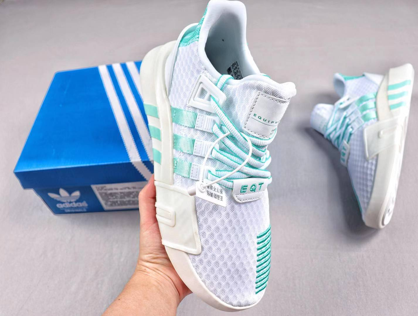 Adidas EQT Basketball ADV BD7799 White/Green Running Shoes Free Shipping
