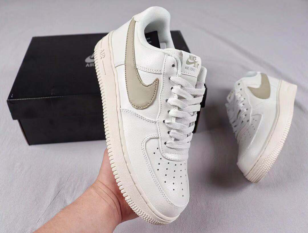 "Best Sell Nike Air Force 1'07 Low Premium 2 ""Sail/Pale Vanilla"" Shoes AT4143-101"