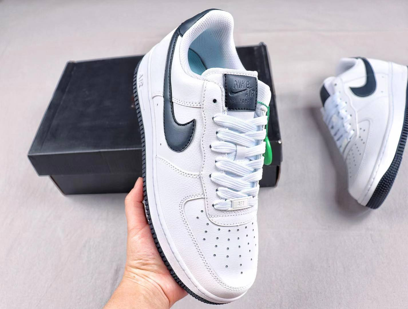 "Nike Air Force 1 Low ""White/Dark Navy"" AH0287-108 Classic Shoes Cheap Sale"