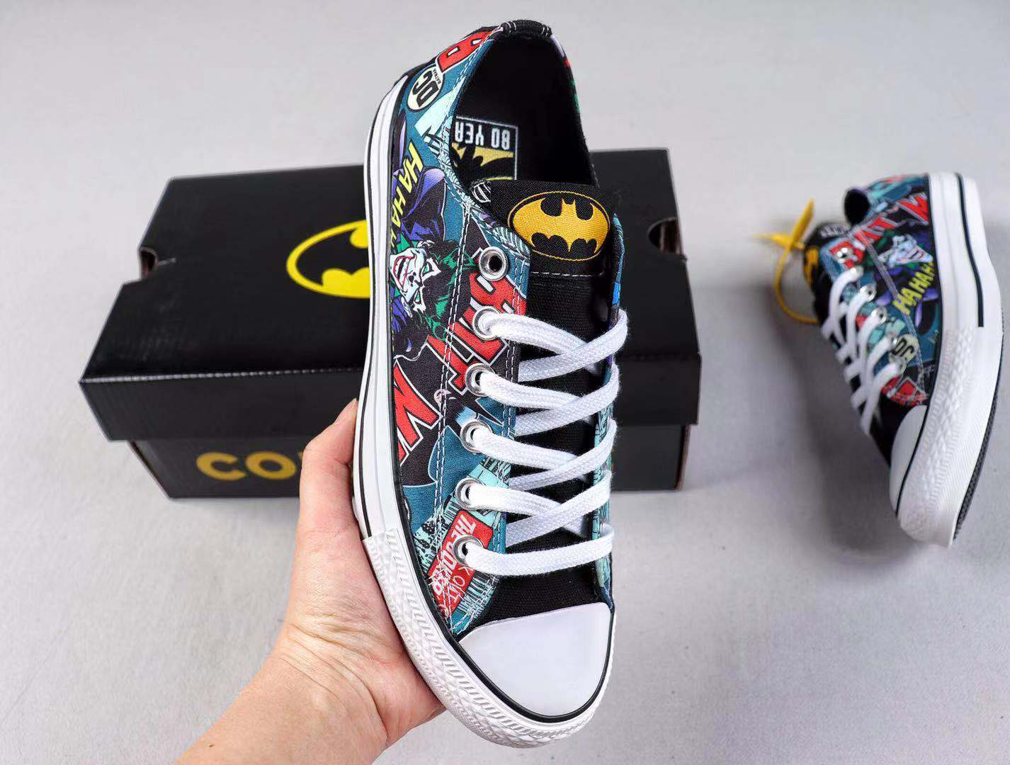 2019 New Arrival Converse x Batman Canvas Uppers Sneakers Free Shipping