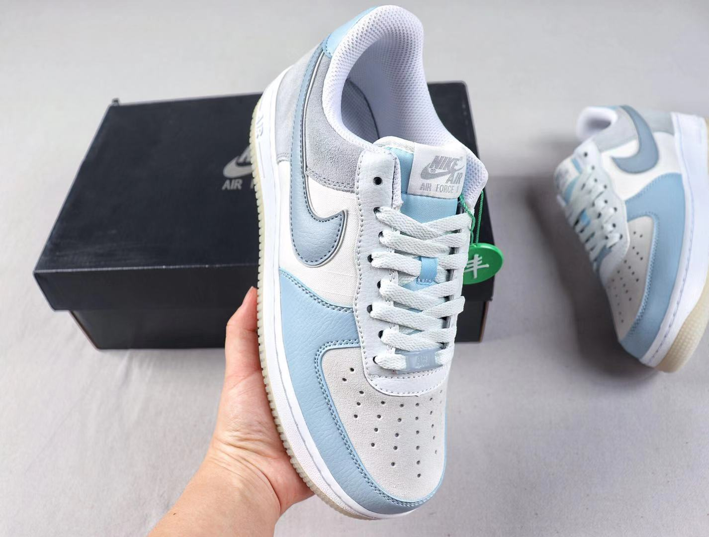 2019 Nike Air Force 1 Armory Blue/Obsidian Mist Top Shoes Hot Sale AO2425-400