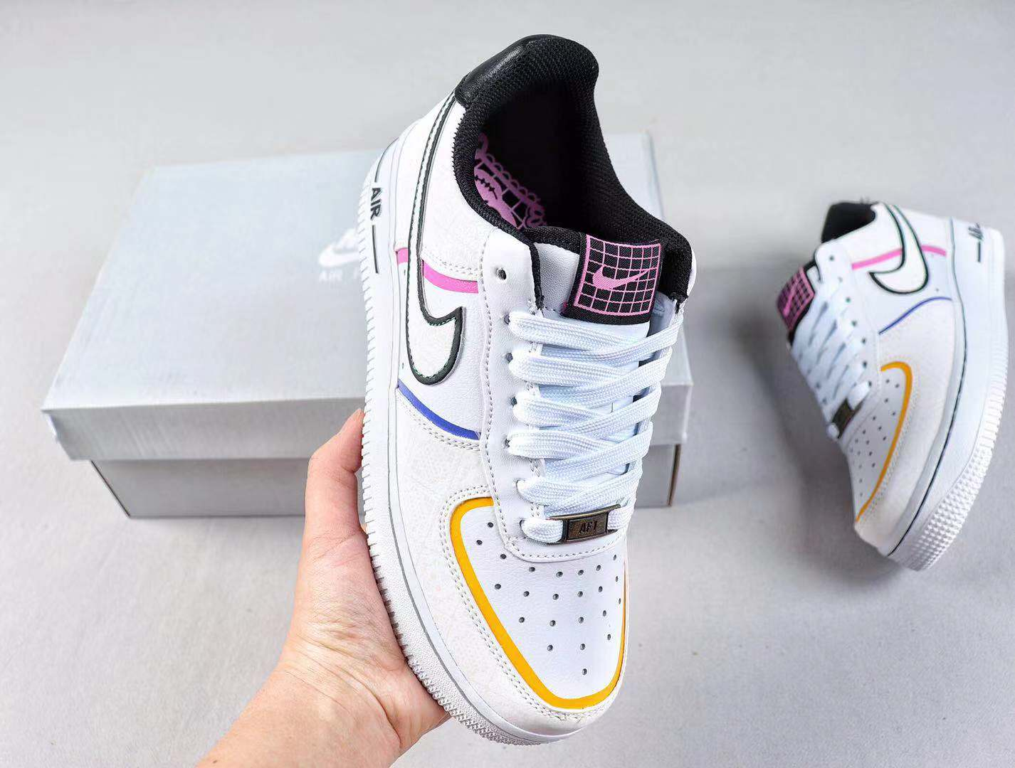 """2019 Nike Air Force 1 Low """"Day Of The Dead"""" CT1138-100 Sneakers On Sale"""