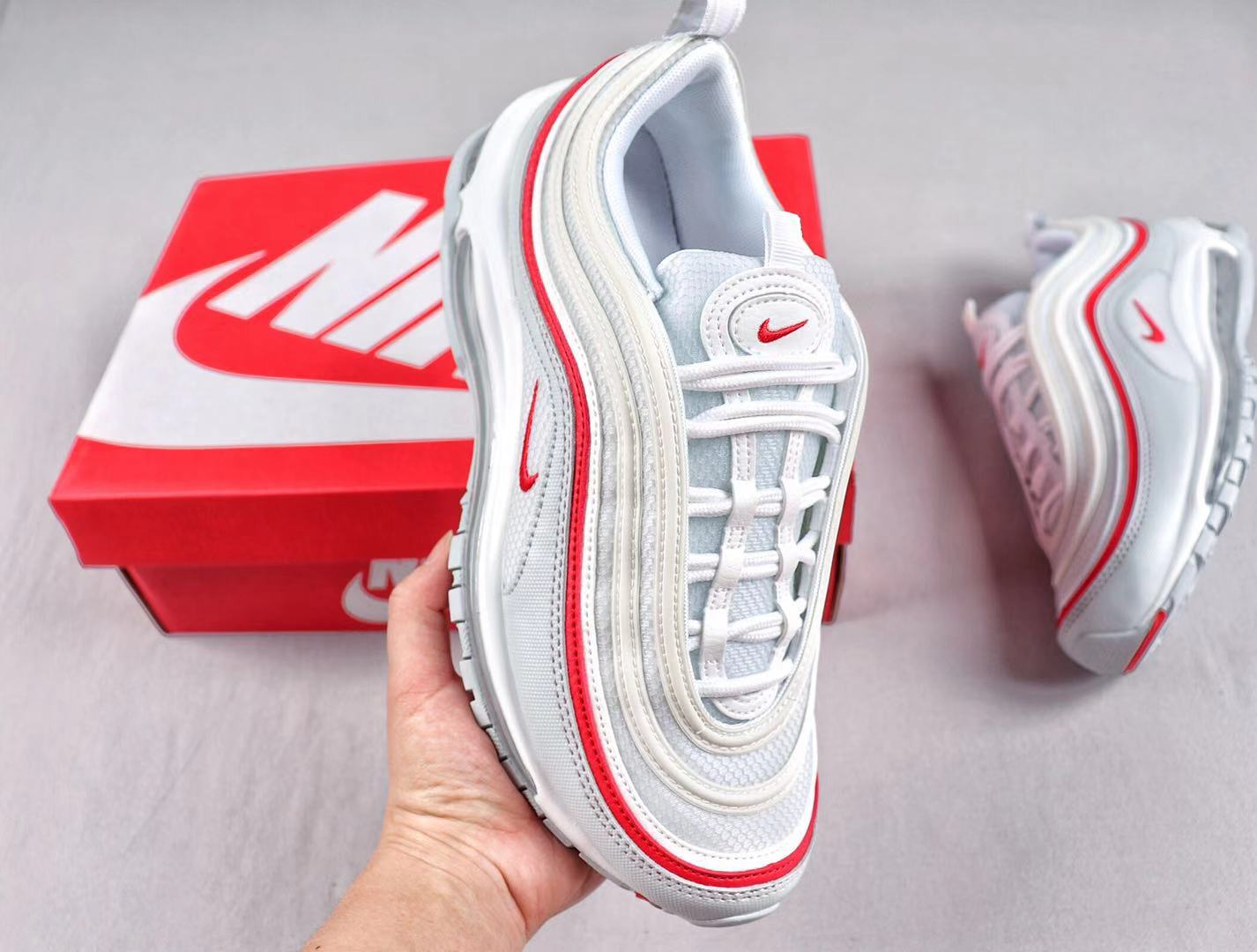 2019 Nike Air Max 97 White/Red Brand New Sneakers AR5531-002