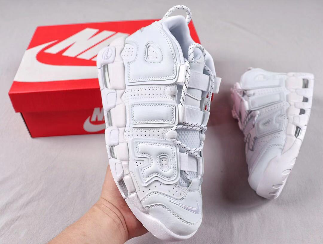 2019 Nike Air More Uptempo Triple White Newest Sneakers 921948-100
