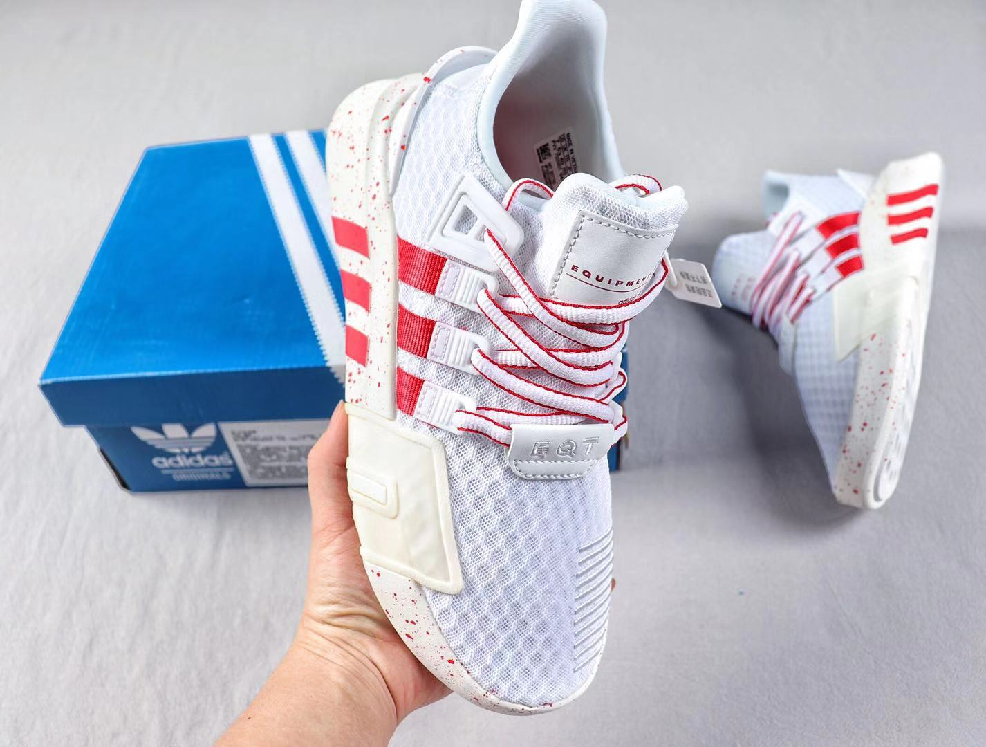 Adidas EQT Basketball ADV Cloud White/Red Casual Trainers Hot Sale BD7885