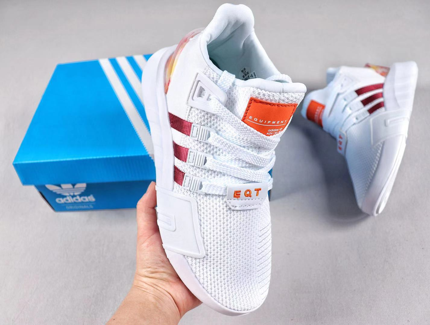 Adidas EQT Basketball ADV Fashion Knit Upper White/Orange-Red In Stock