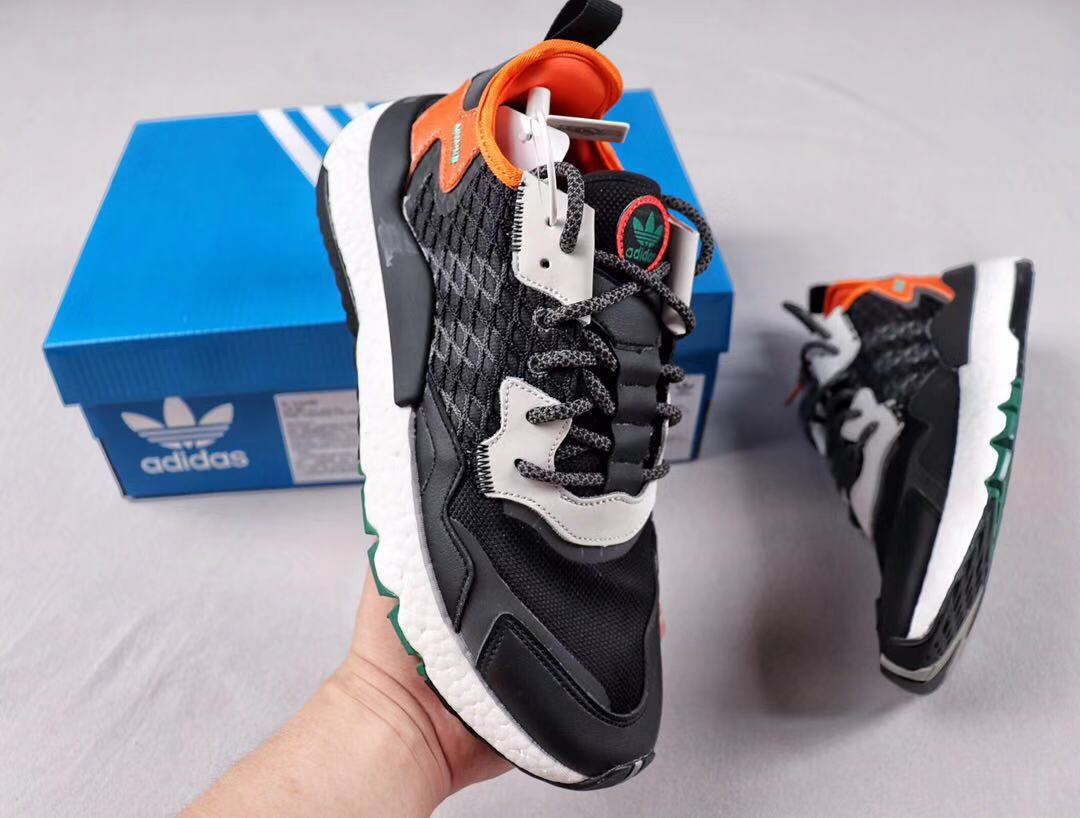 Adidas Nite Jogger CORDURA EE5549 Core Black/Grey Six-Orange For Sale