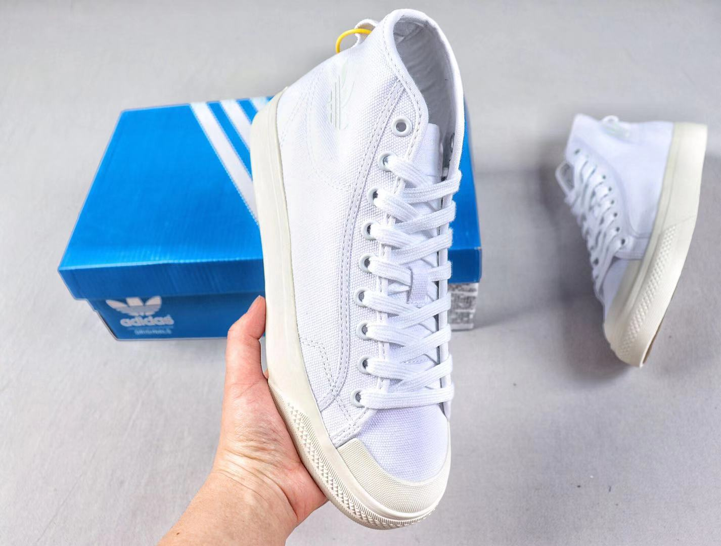 Adidas Nizza High B41643 Cloud White/Off White Top Shoes For Sale