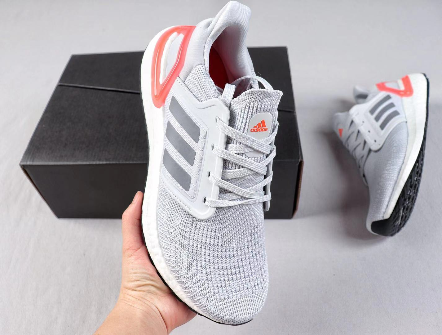 Adidas Ultra Boost 19 Wolf Grey/Orange Newest Sneakers For Sale EG0704