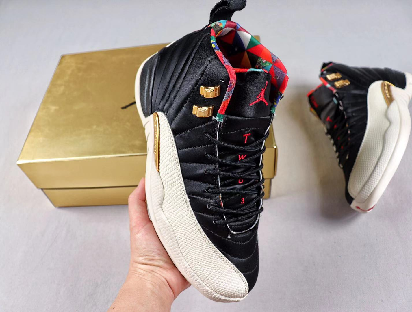 """Air Jordan 12 """"Chinese New Year"""" CI2977-006 Black/Sail-True Red For Sale"""