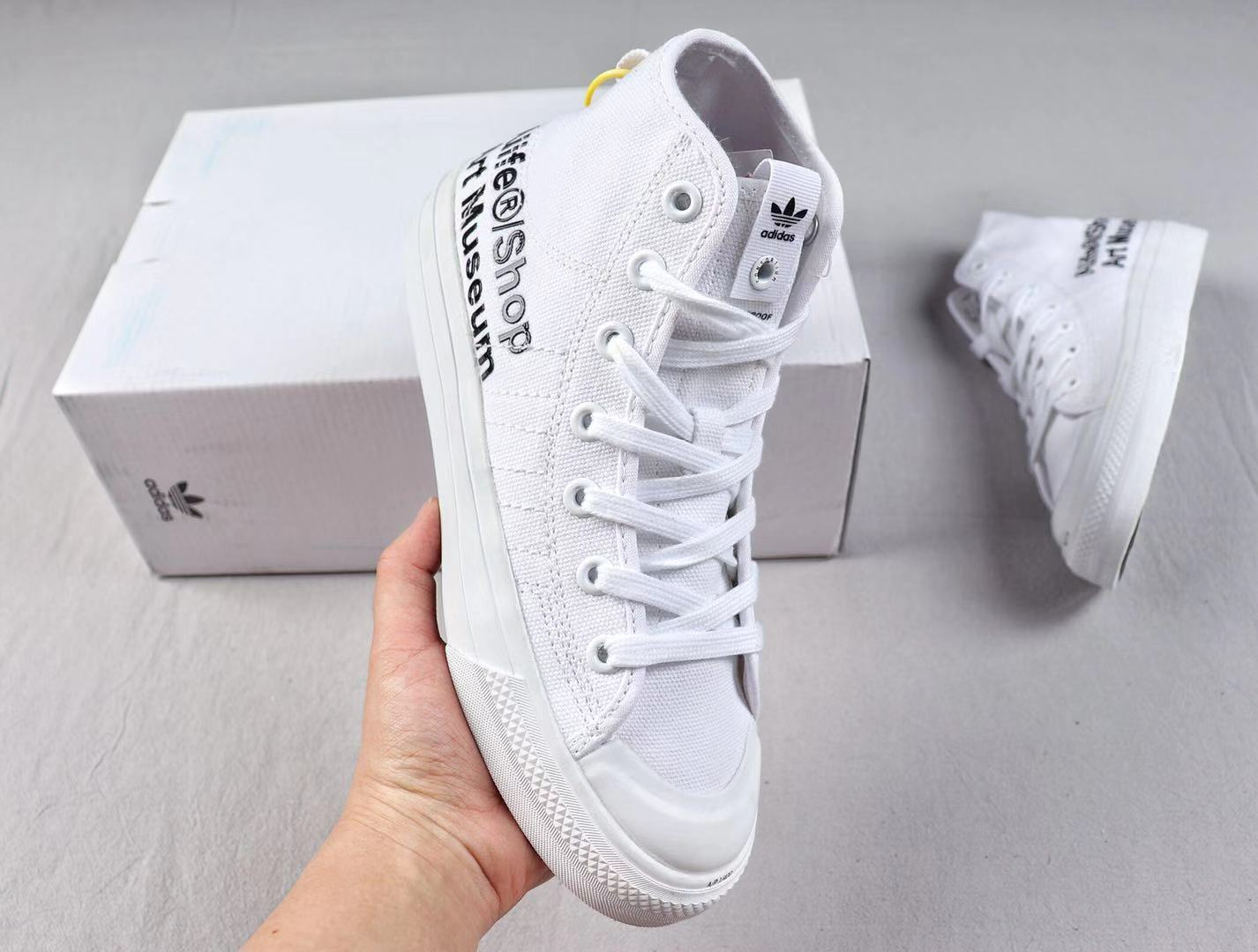 Alife x Adidas Consortium Nizza High Coud White Sneakers To Buy G27820