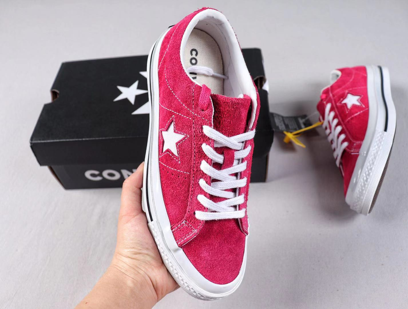 Best Sell Converse One Star Cali Suede Low Red/White Top Sneakers