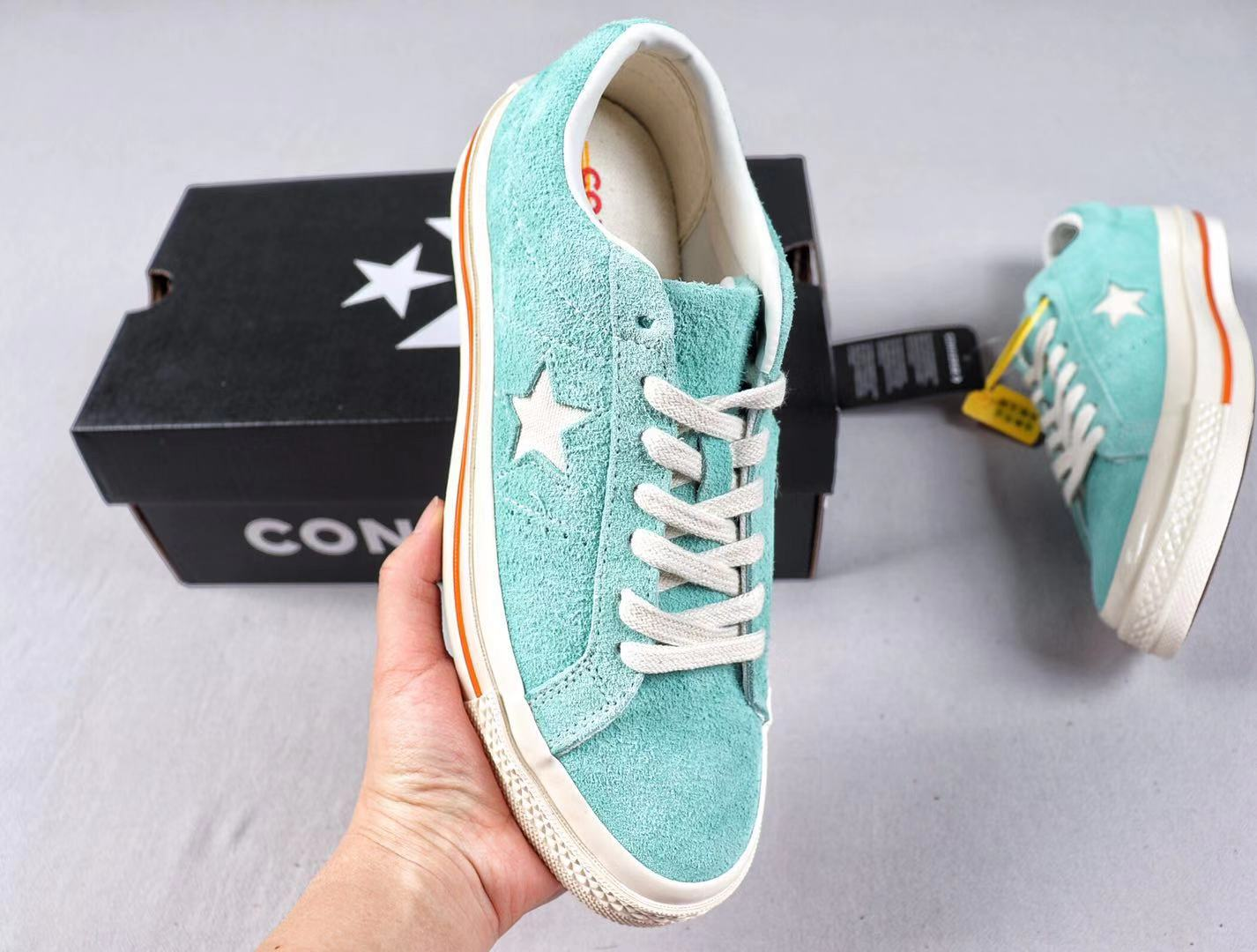 Converse One Star Cali Suede Low Top Sneakers Bold Jade For Sale 164217C