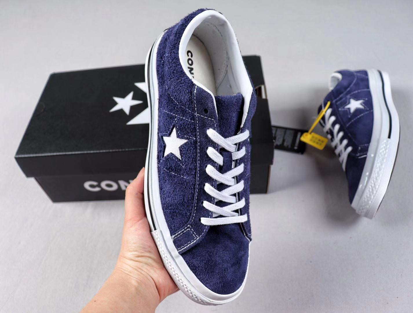 Converse One Star OX Cali Suede Low Blue-Purple/White Top Quality Shoes