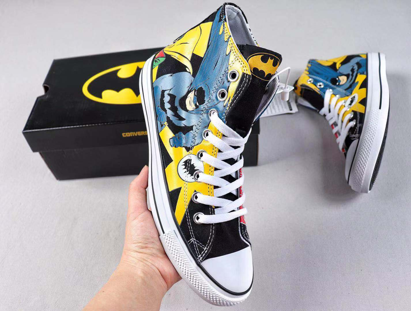 Converse x Batman Canvas Uppers Fashion Trainers Cheap Price