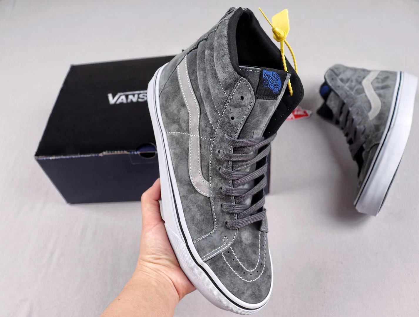 Madness x Vans SK8-Hi Suede Uppers Grey/White New Arrival Sneakers