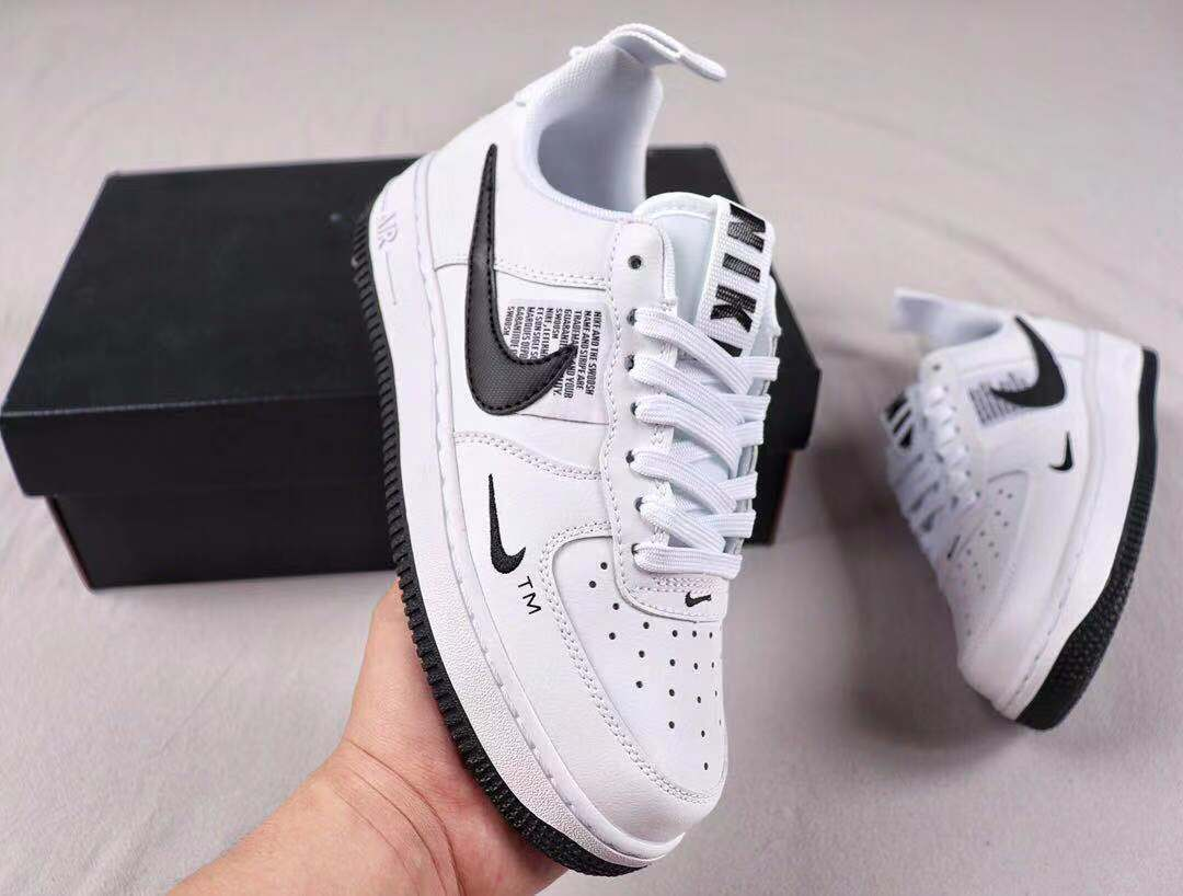 New This Year Nike Air Force 1 Utility White/Black Sneakers CQ4611-100