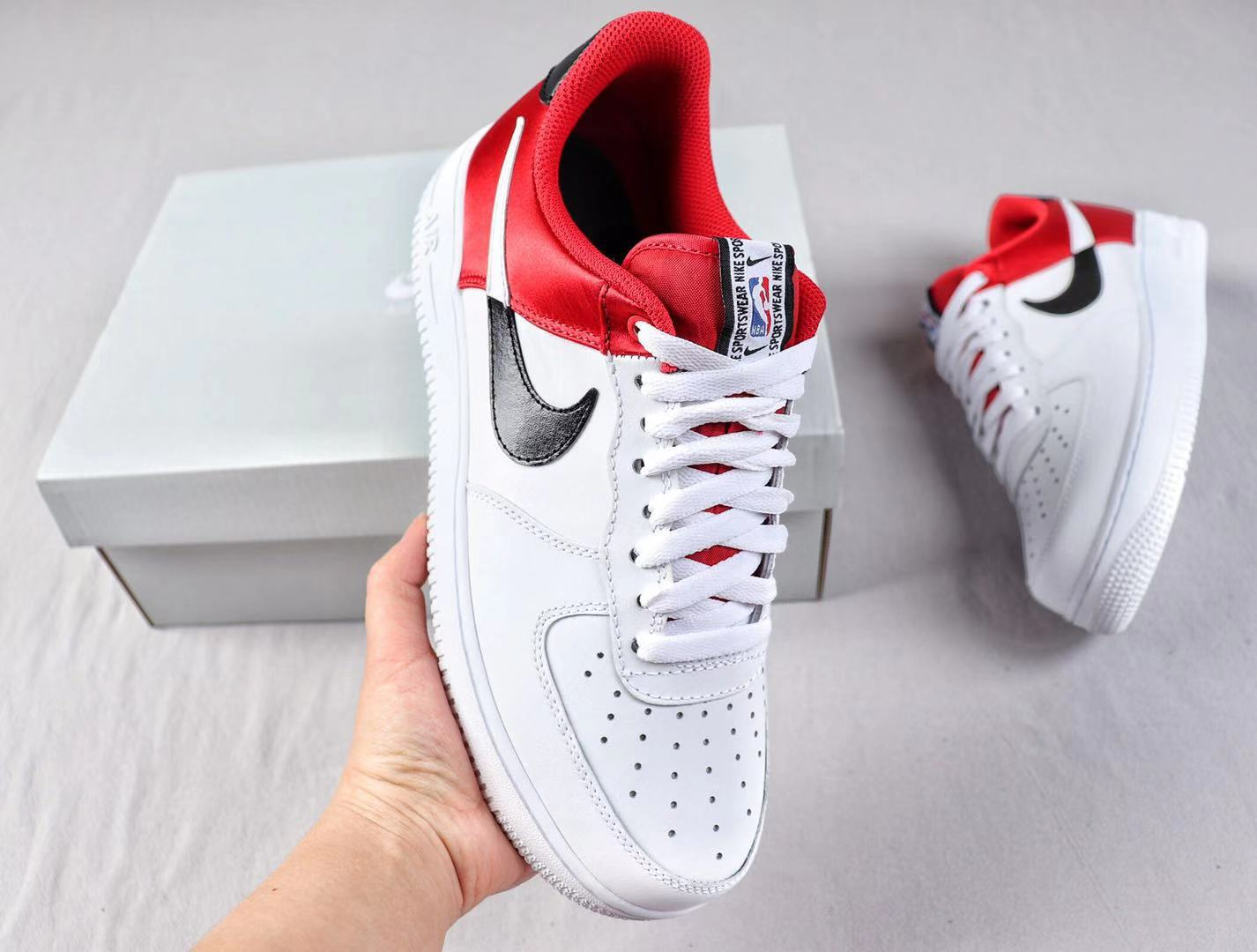 Nike Air Force 1'07 Low University Red/White-Black Sneakers To Buy BQ4420-600