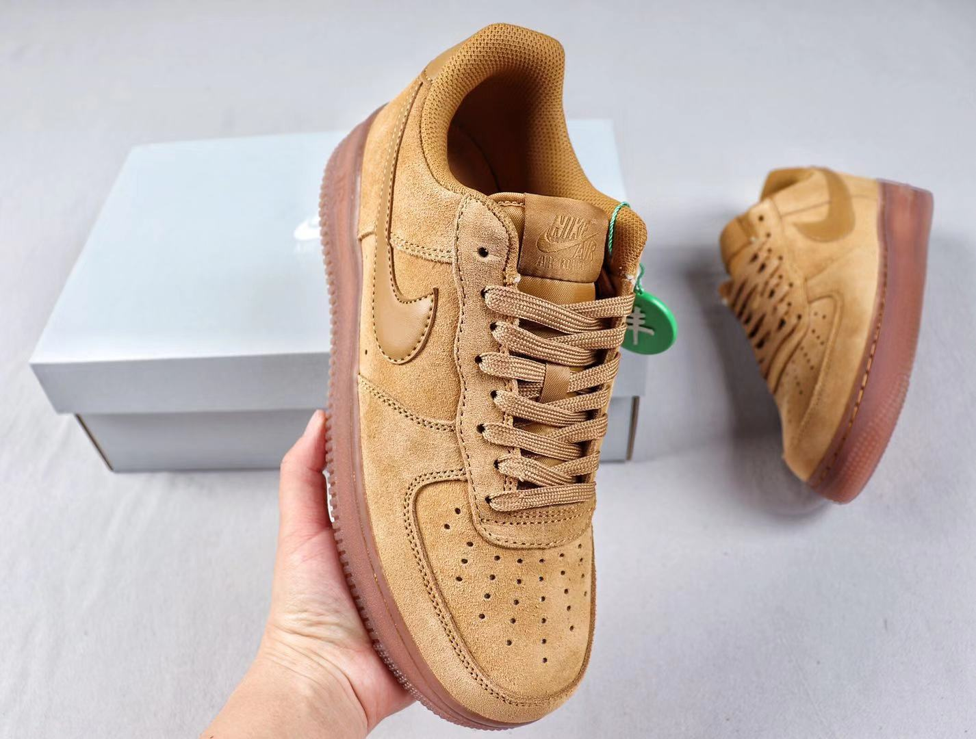Nike Air Force 1 Low Wheat/Gum-Light Brown Casual Shoes In Stock BQ5485-700