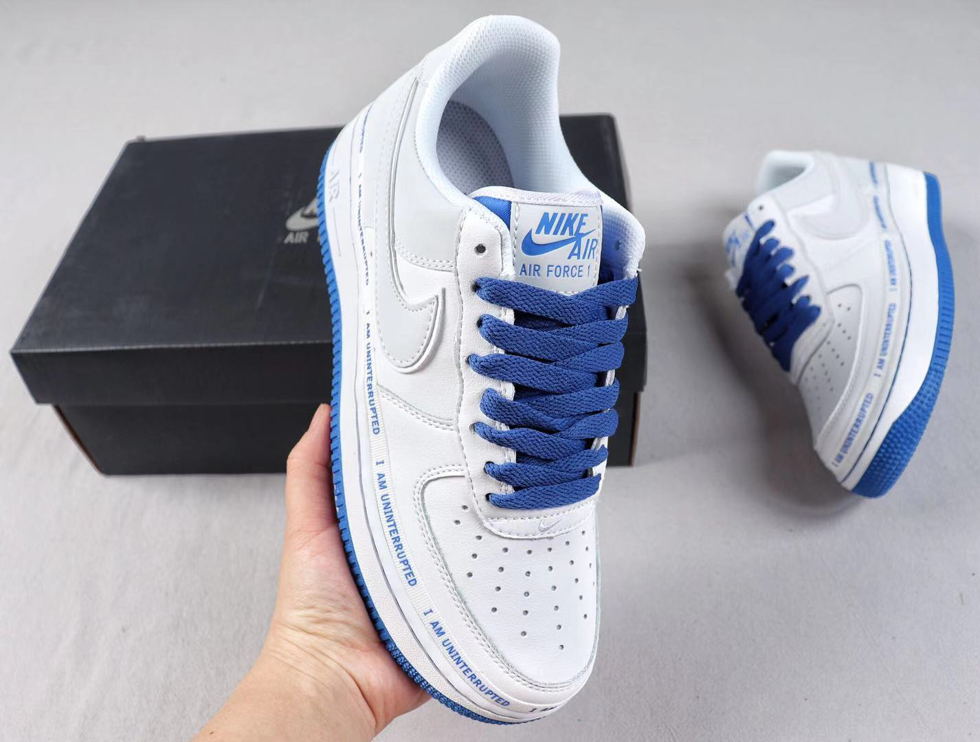 Nike Air Force 1 x Uninterrupted CQ0494-100 White/Lapis Blue In Stock