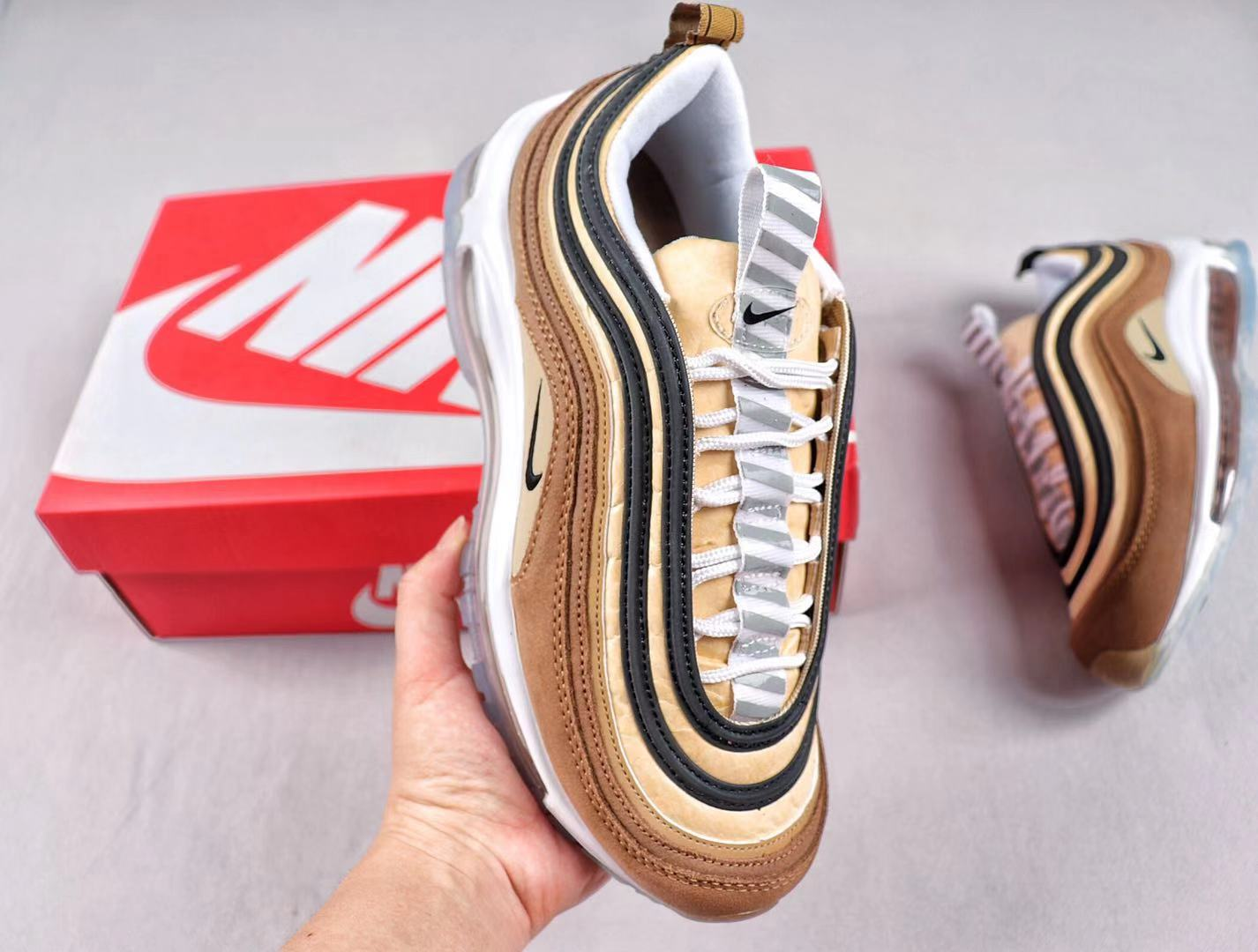 Nike Air Max 97 Ale Brown/Black-Elemental Gold Sneakers For Sale 921826-201