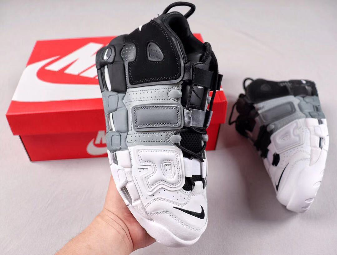 Nike Air More Uptempo Black/Cool/Grey-White Shoes Online Sale 921948-002