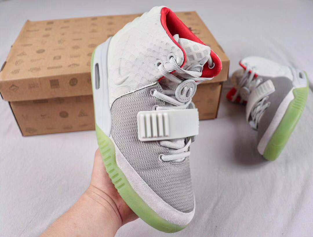 "Nike Air Yeezy 2 NRG ""Pure Platinum"" High Jogging Shoes Online Sale 508214-010"