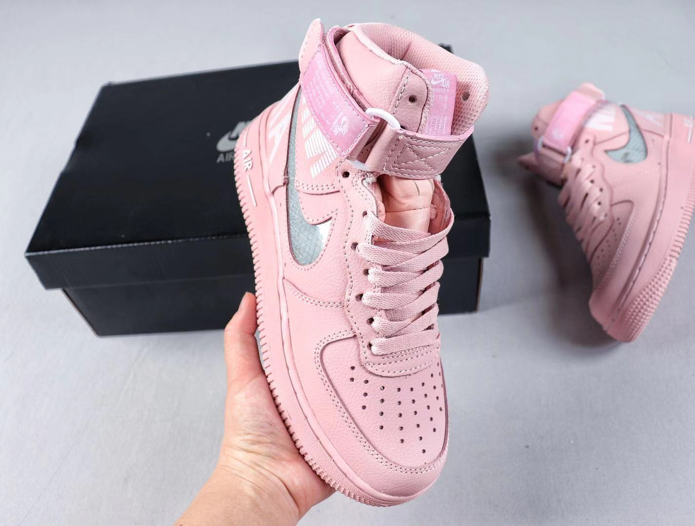 Nike Wmns Air Force 1 High Pink/White Top Shoes For Sale CQ0449-101