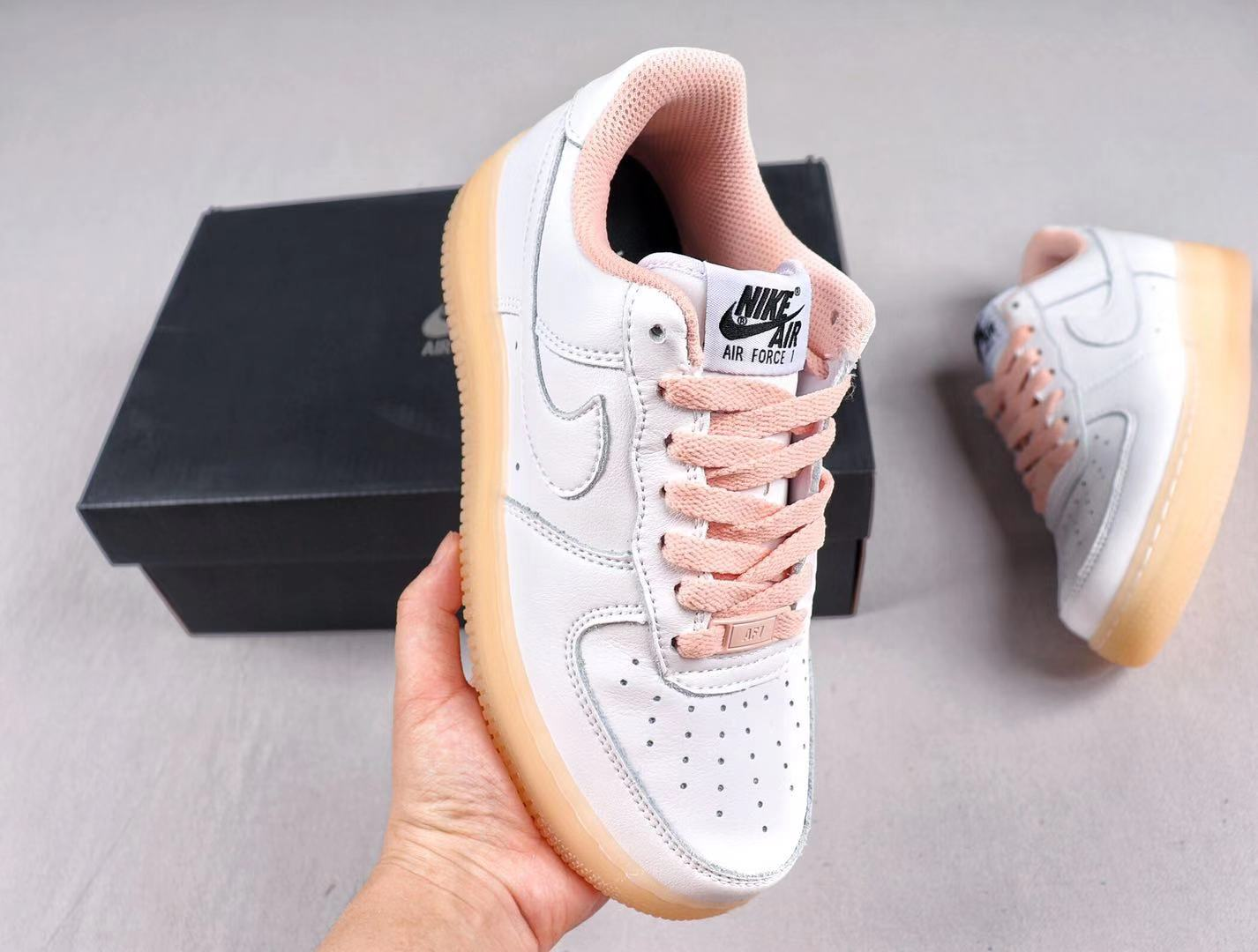 Nike Wmns Air Force 1 Low AH0287-110 White/Sakura Pink Fashion Sneakers
