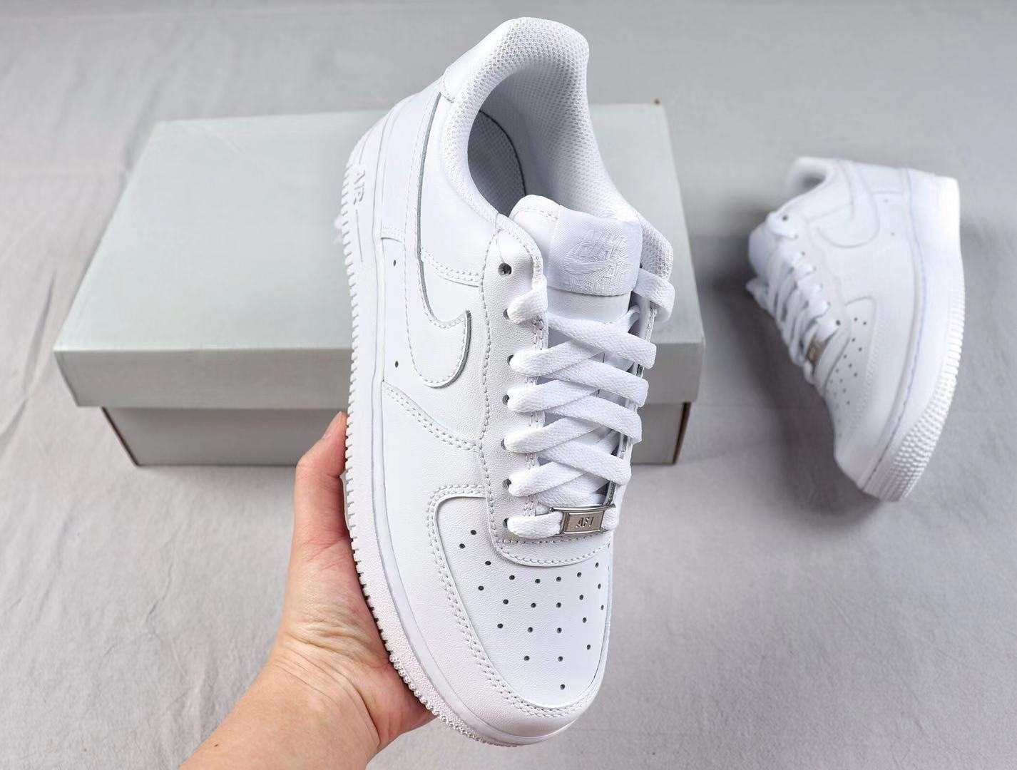Nike Wmns Air Force 1'07 Low Sneakers White/White In Stock 315115-112