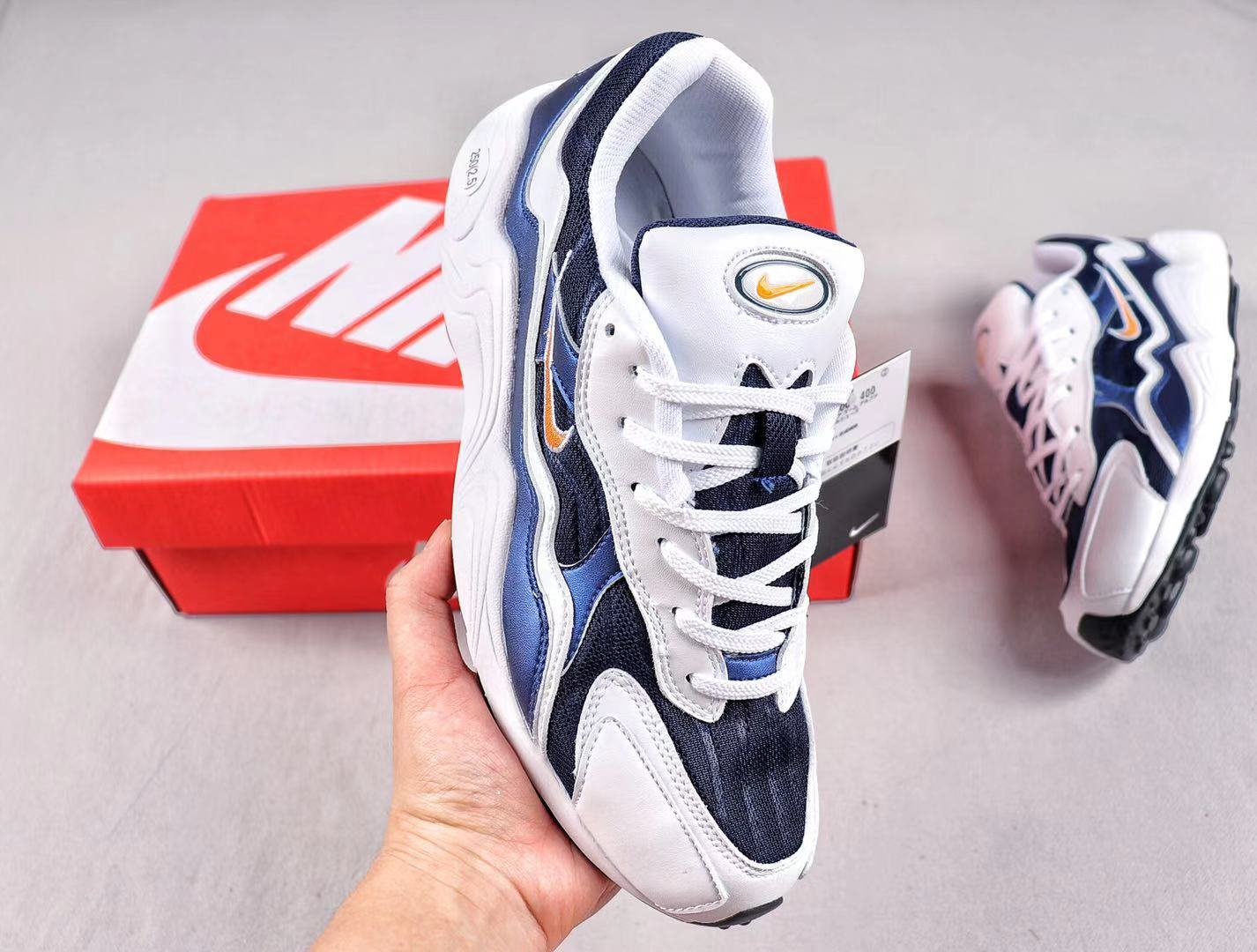 Nike Zoom Alpha BQ8800-400 Dark Navy/White-Orange Sneakers Online Sale