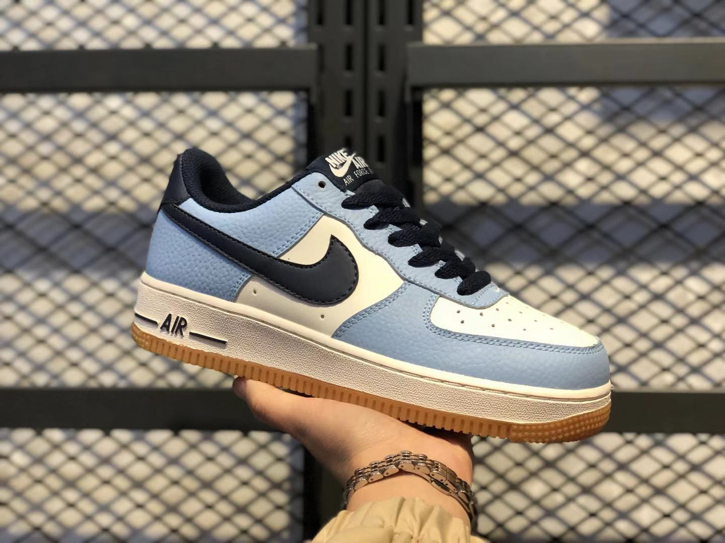 2019 Nike Wmns Air Force 1 Low Premium Light Blue Sneakers For Online Sale