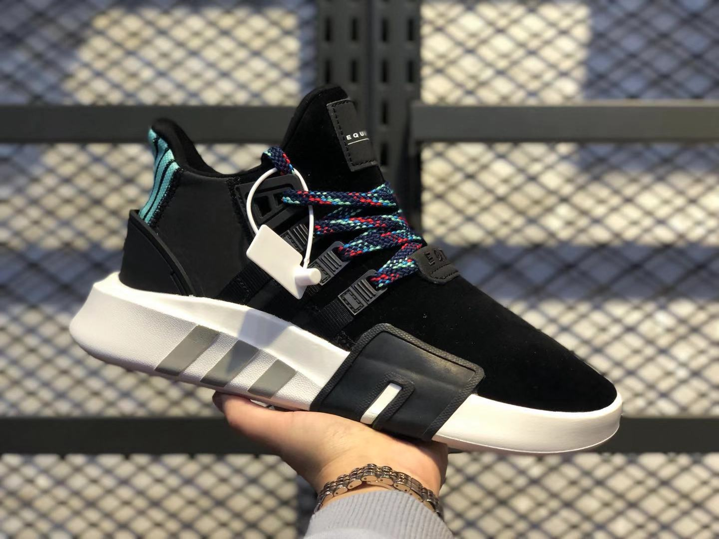 Adidas EQT Bask ADV Black/Lake Blue Basketball Shoes Free Shipping