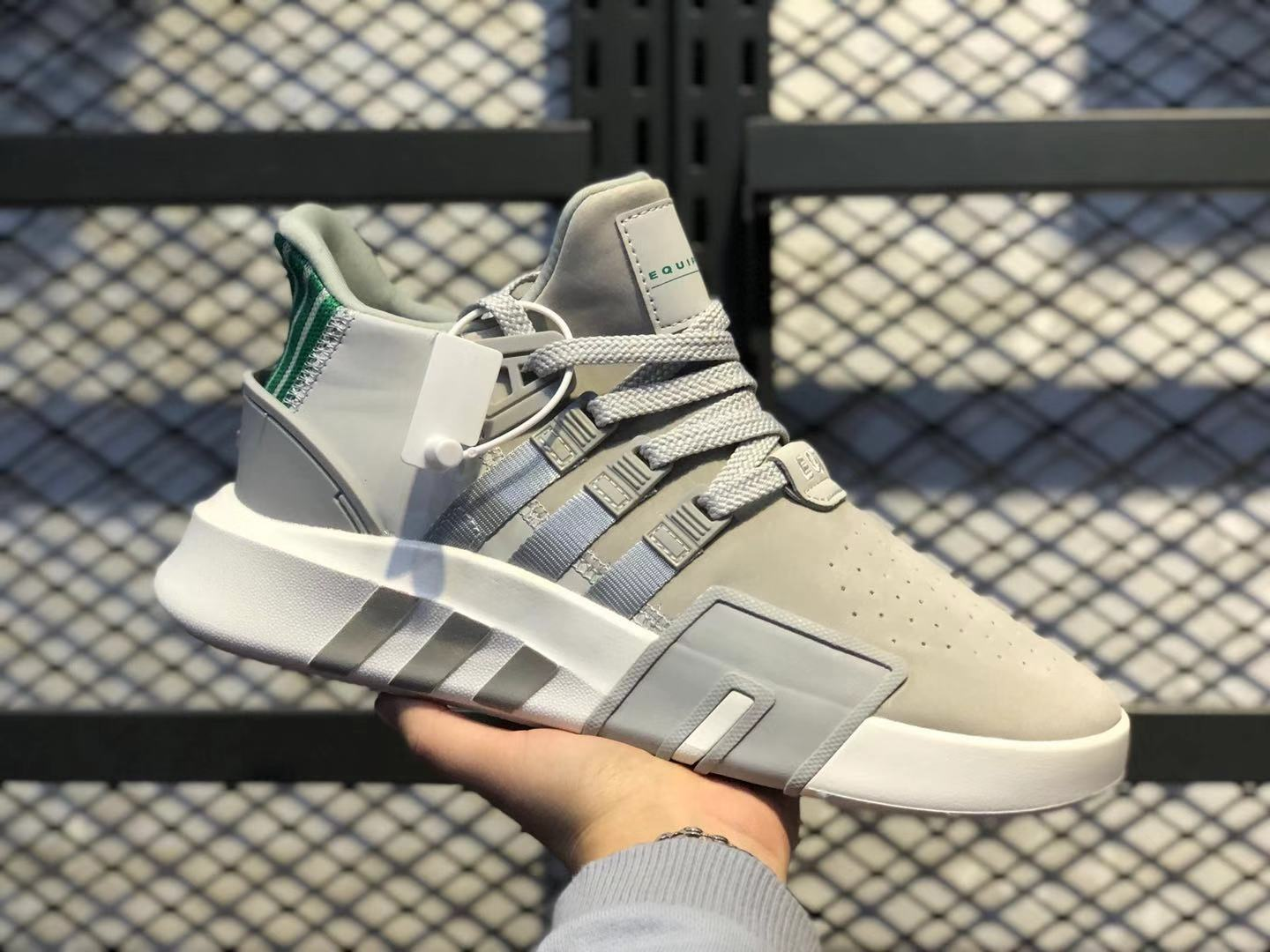 Adidas EQT Bask ADV Wolf Grey/Khaki-Green Basketball Shoes For Online Sale