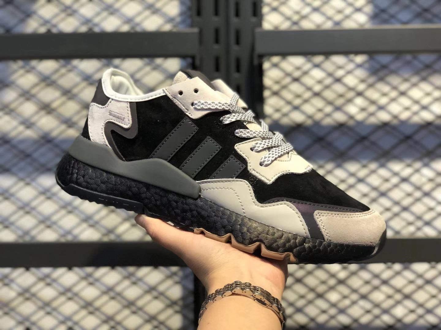 Adidas Nite Jogger 2019 Boost Black/Teal Running Shoes For Sale BD7936