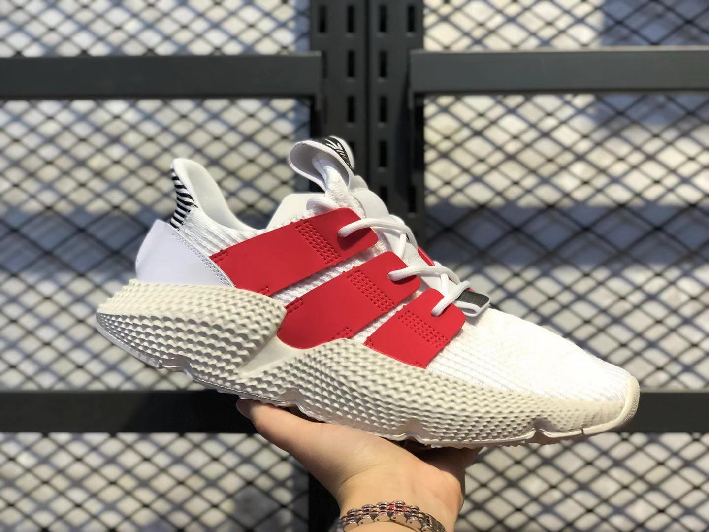 Adidas Originals Prophere Cloud White/Gym Red Top Shoes For Sale FU9263
