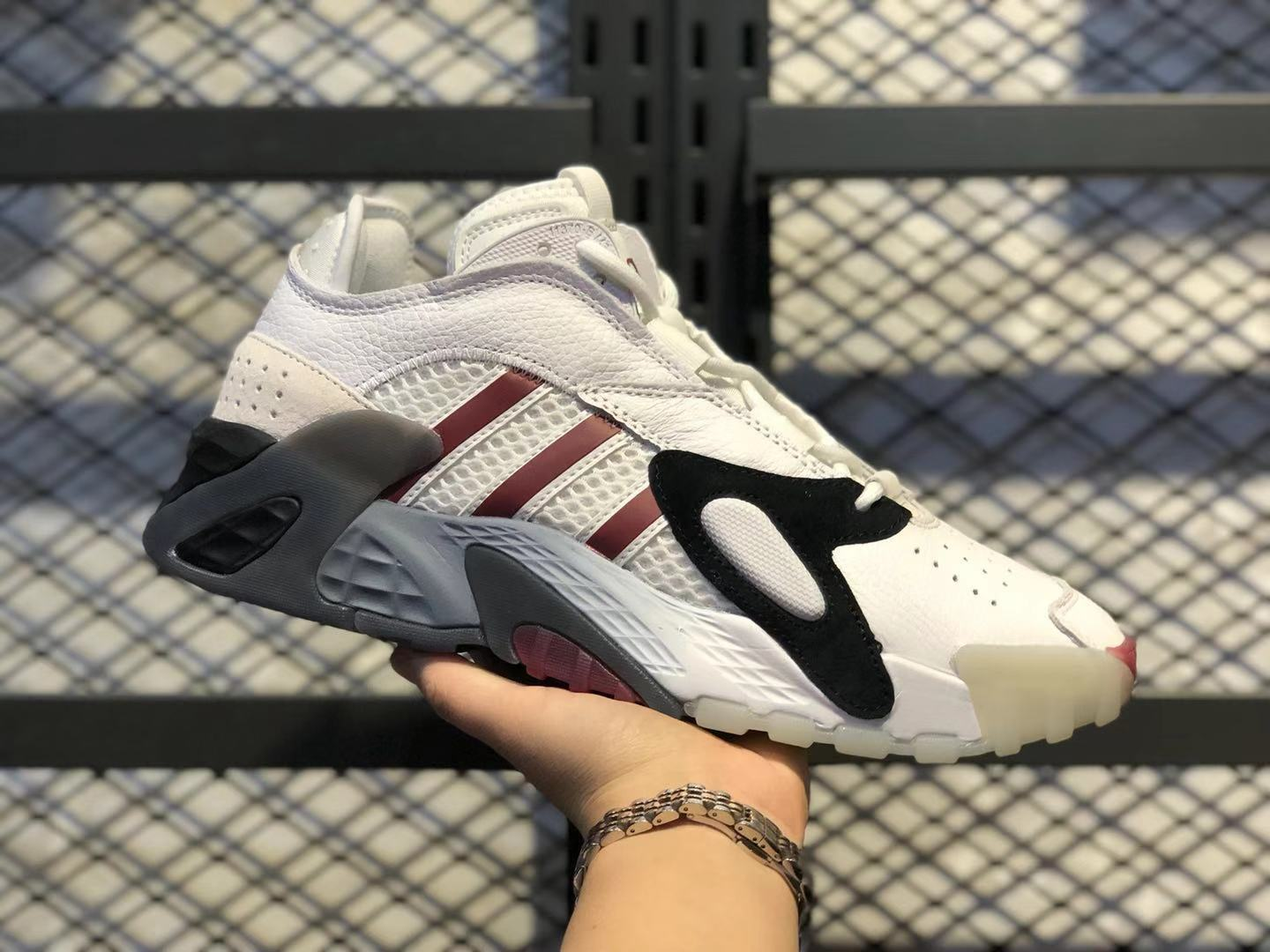 Adidas Streetball White/Black-Wine Red Men's Sneakers To Buy EE5925