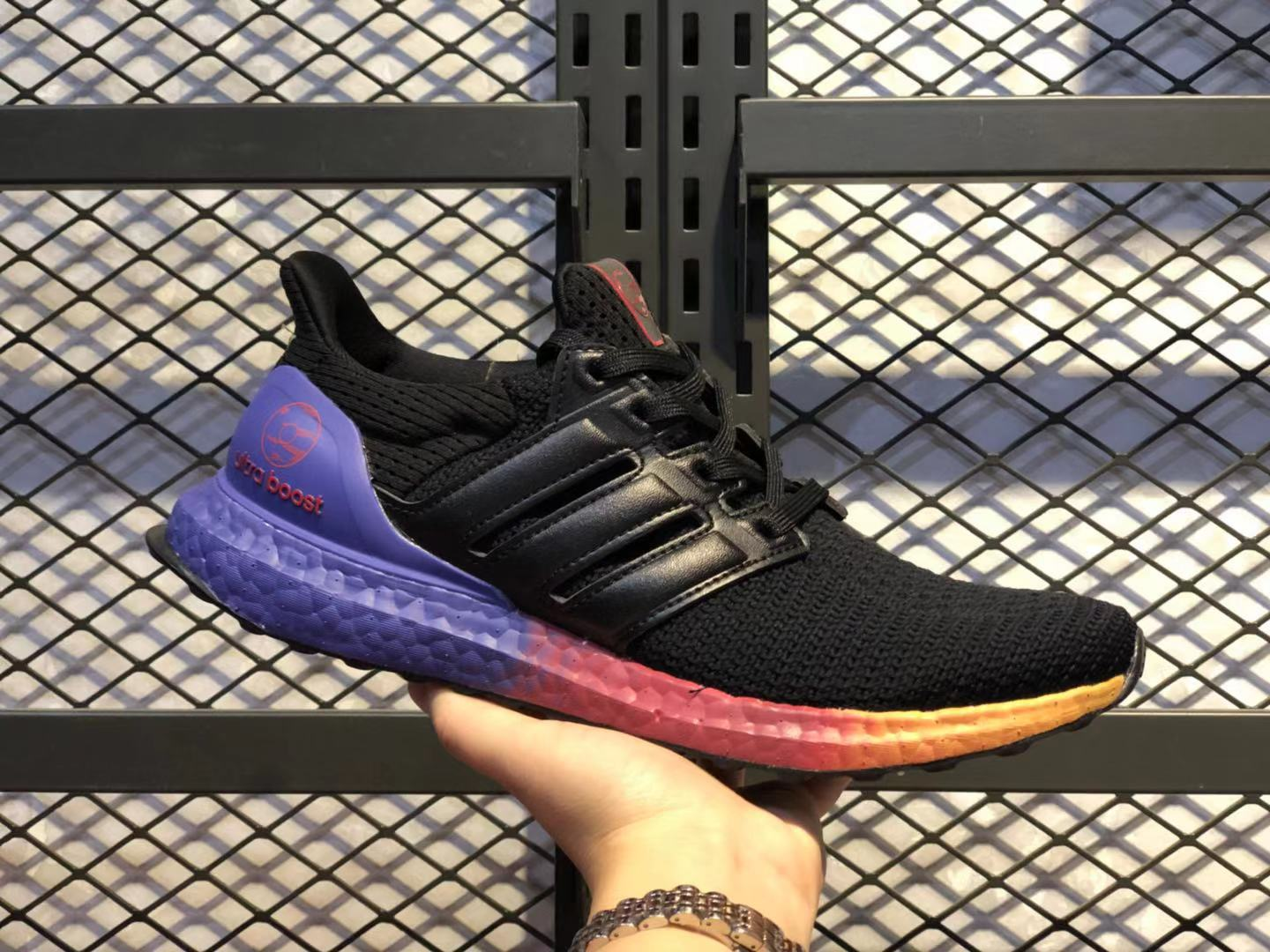 Adidas Ultra Boost Black/Multi-Color New Style Sneakers On Sale FW3725