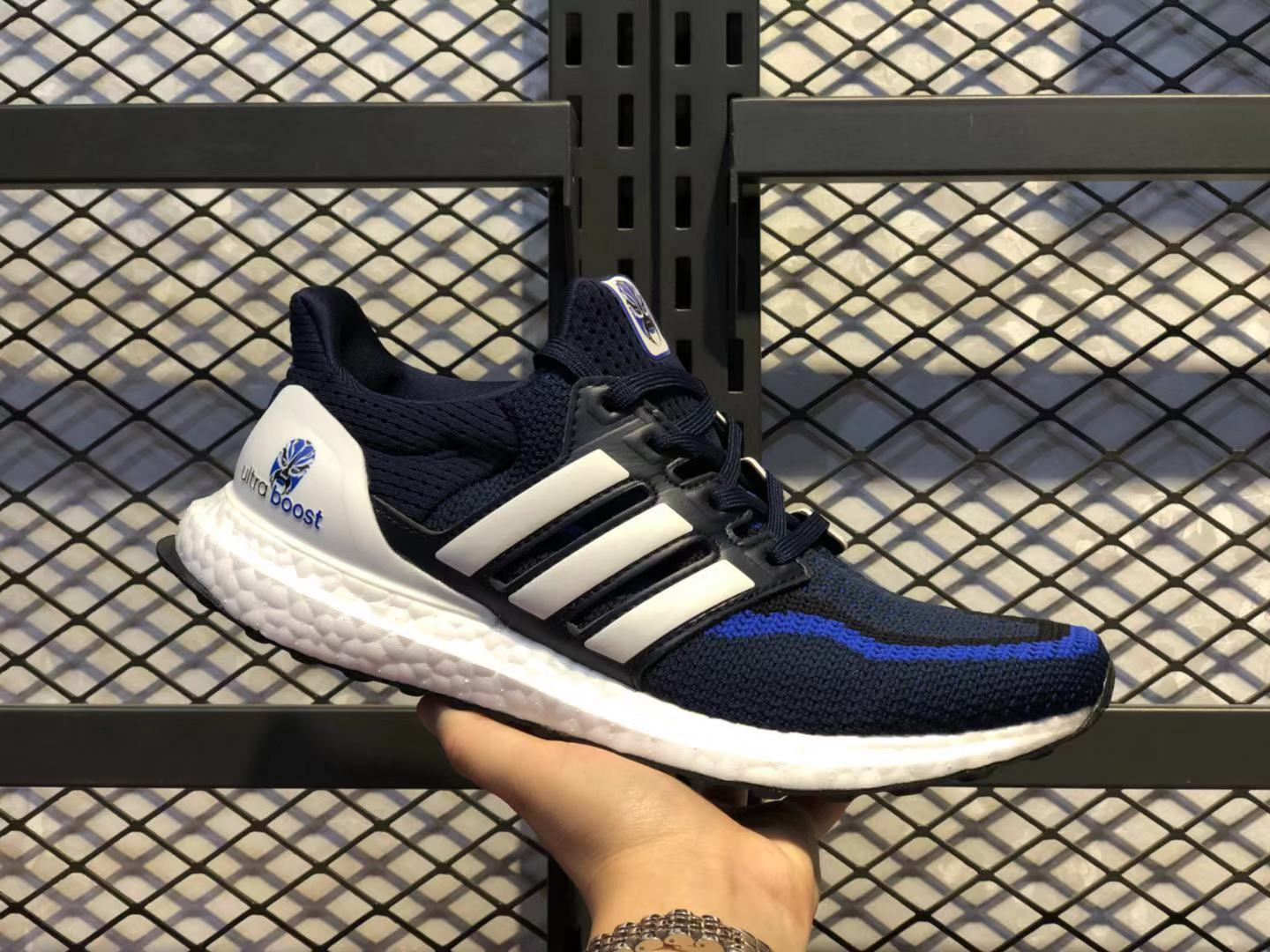 Adidas Ultra Boost Black/White-Laser Blue Running Shoes Online Buy