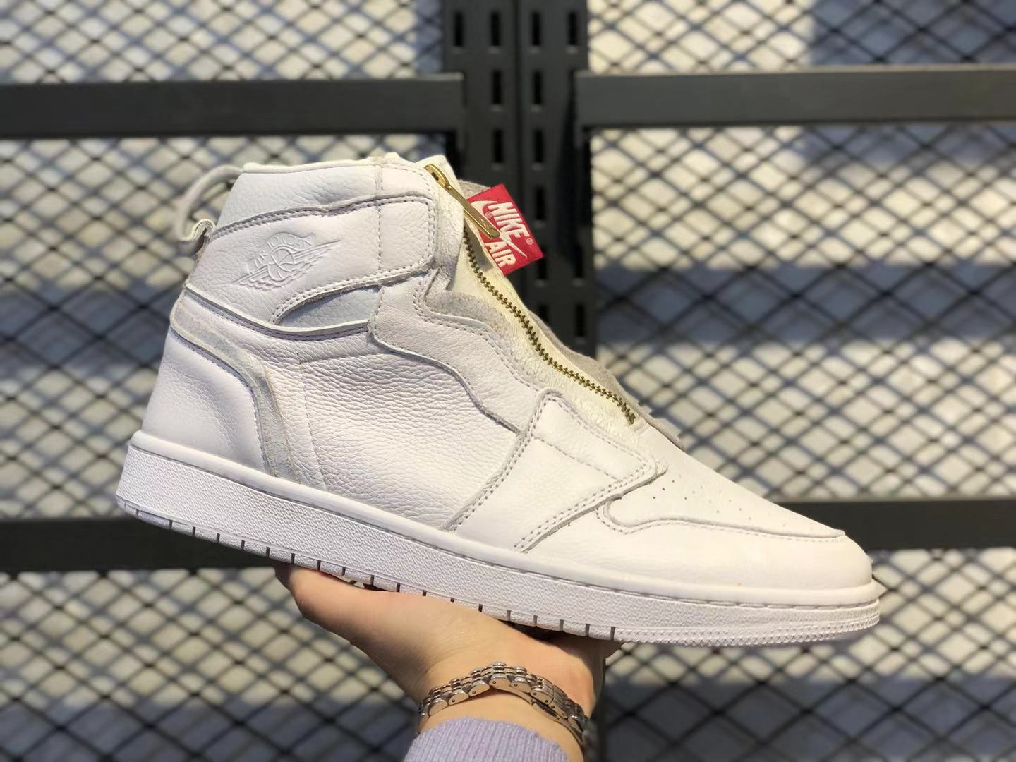 Air Jordan 1 High Zip AWOK Vogue White/University Red Top Shoes For Sale