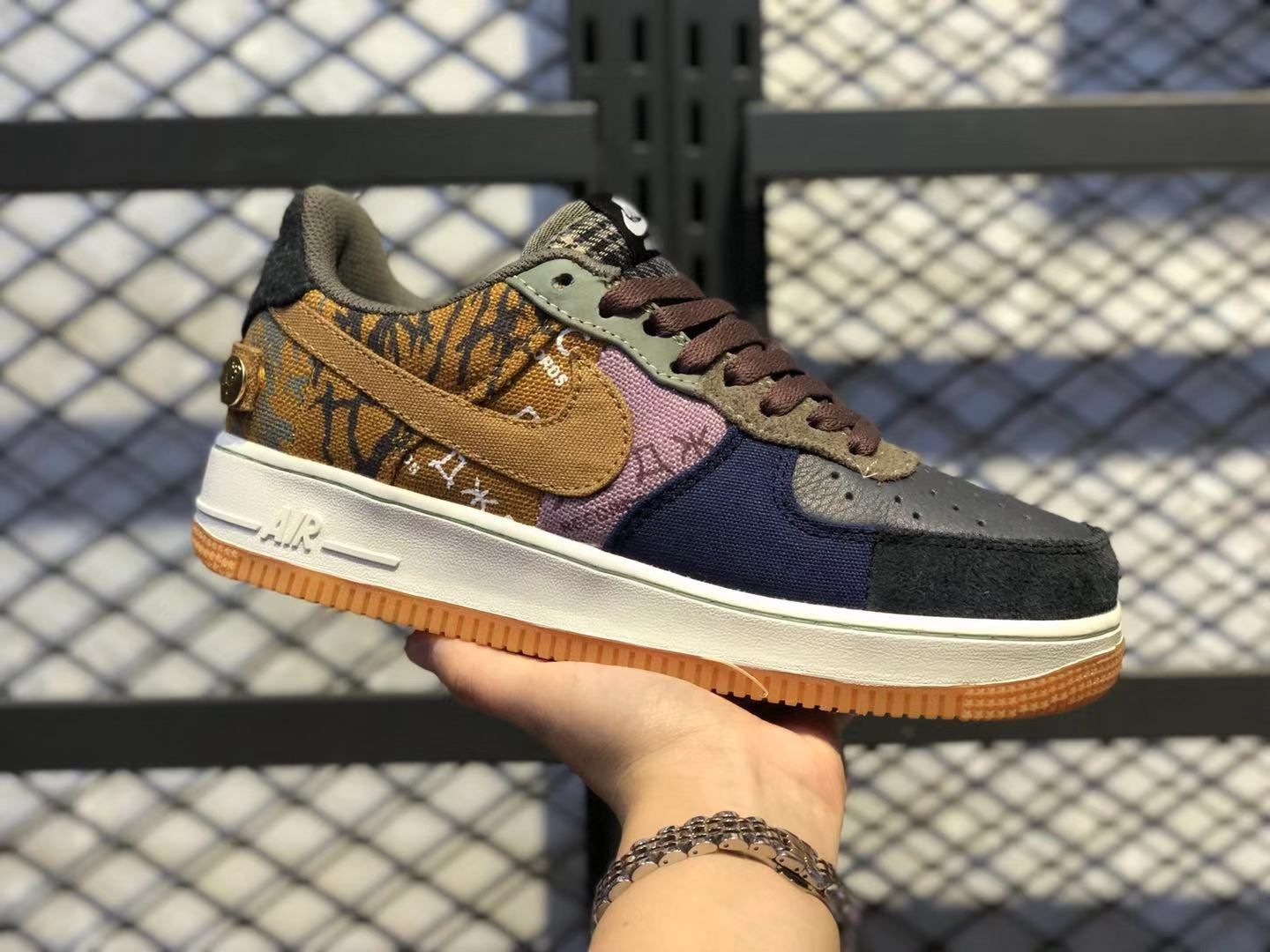 Hot Sale Nike Air Force 1 Low Travis Scott Multicolor/Muted Bronze CN2405-900