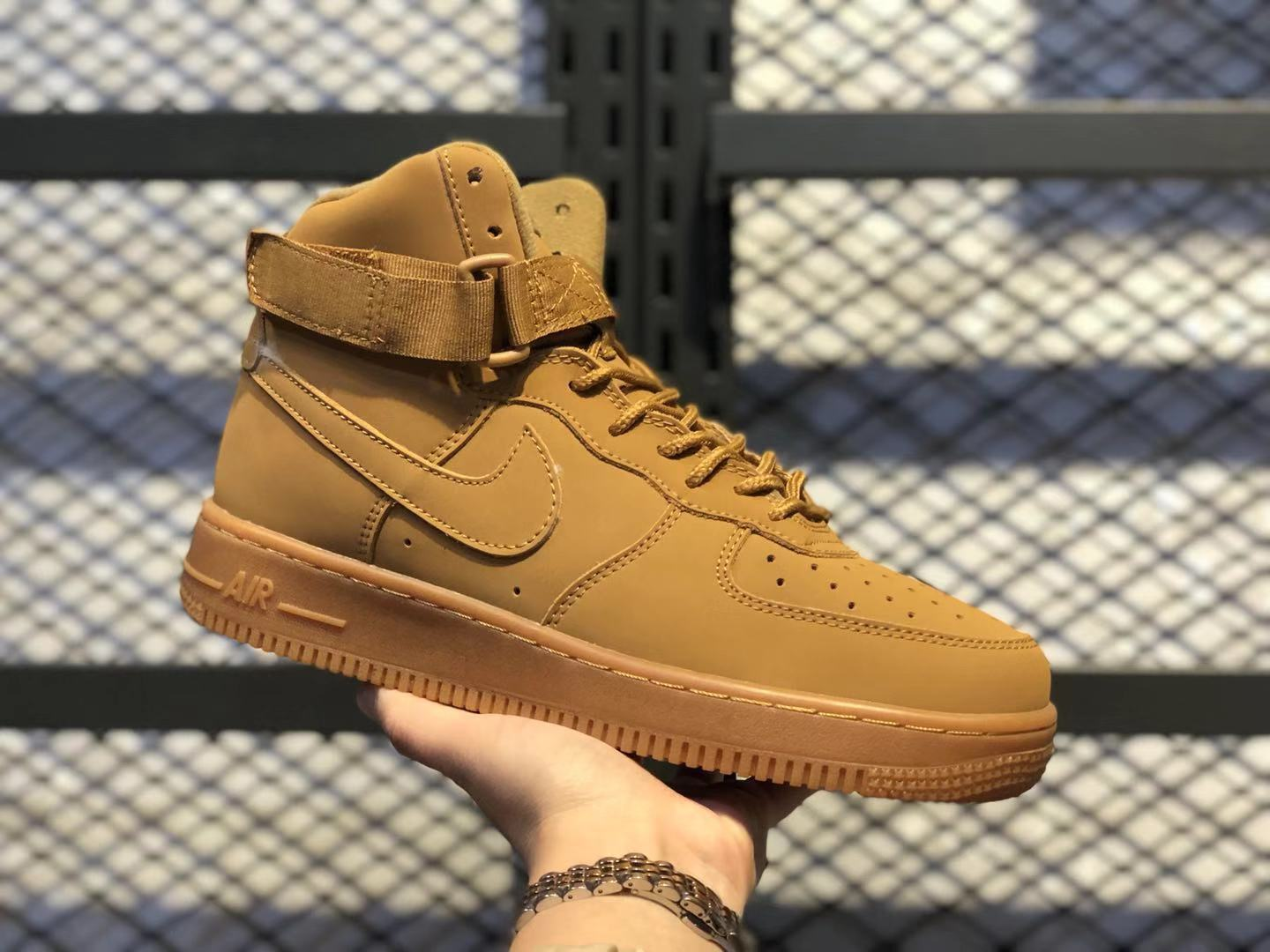 Nike Air Force 1 High 07 LV8 Flax/Flax-Outdoor Green Sneakers Cheap Price