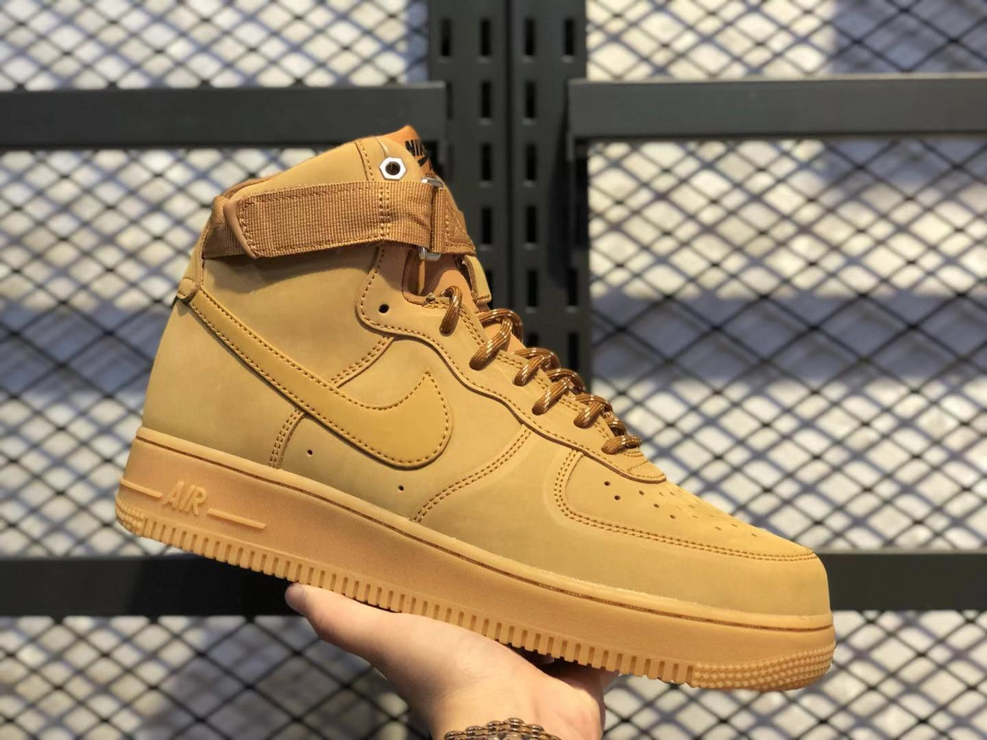 Nike Air Force 1 High Flax/Wheat-Gum Light Brown-Black For Online Sale