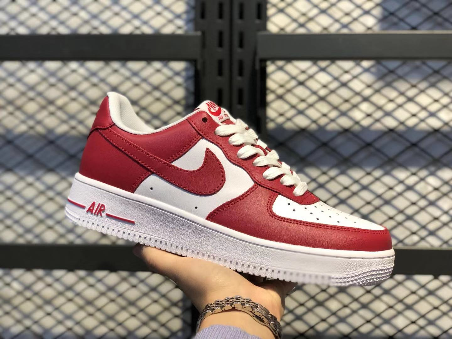Nike Air Force 1 Low Team Red White Sneakers Online Buy AQ4134-600