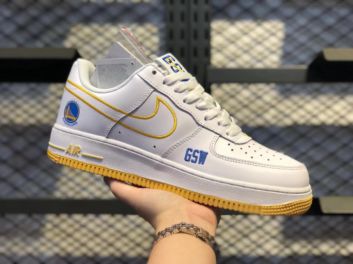 Nike Air Force 1 Low White/Royal Blue-Yellow Shoes To Buy BQ5361-083