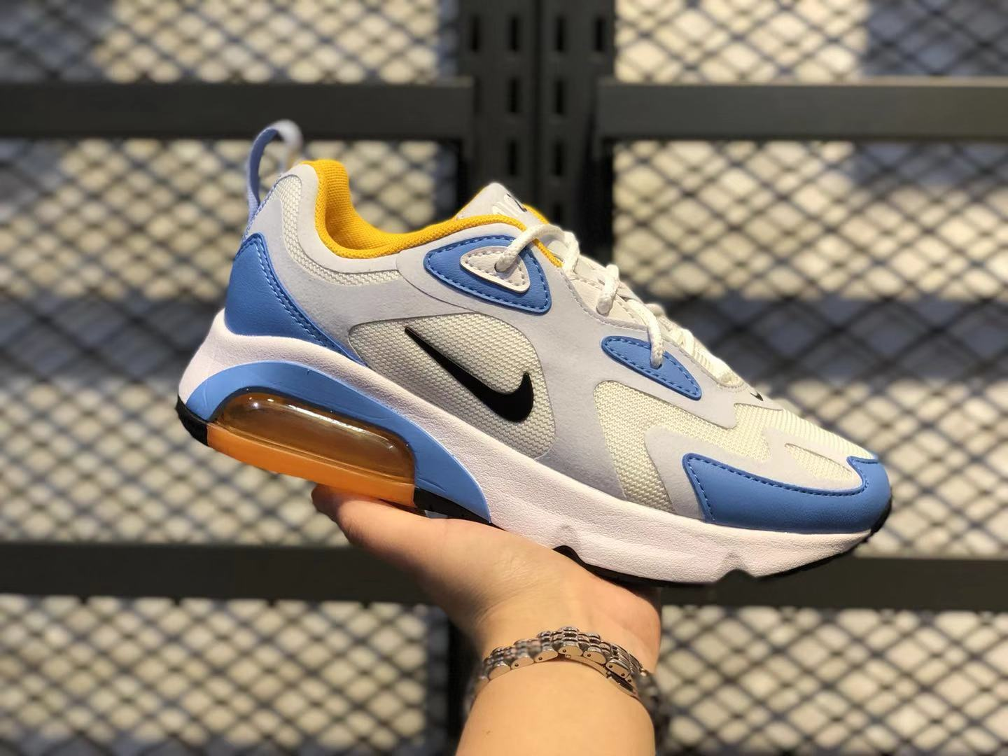 Nike Air Max 200 White/Black-Half Blue Women's Shoe In Stock AT6175-101