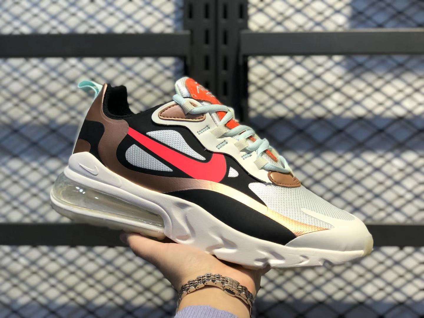 Nike Air Max 270 React Sail/Black-Metallic Red Bronze-Pure Platinum Online Buy